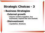 strategic choices 3