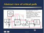 abstract view of critical path