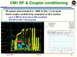 cm1 rf coupler conditioning