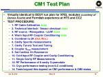 cm1 test plan
