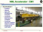 nml accelerator cm1
