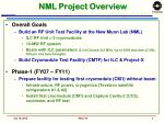 nml project overview