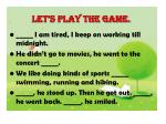 let s play the game