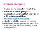 promise keeping