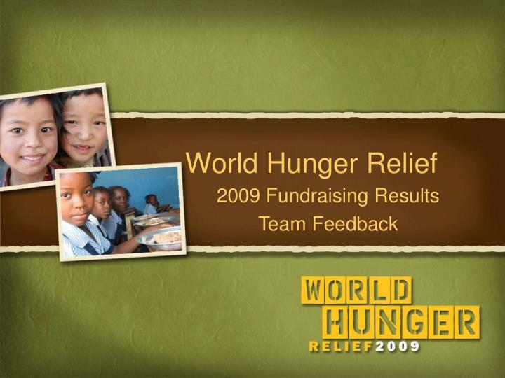 world hunger relief n.