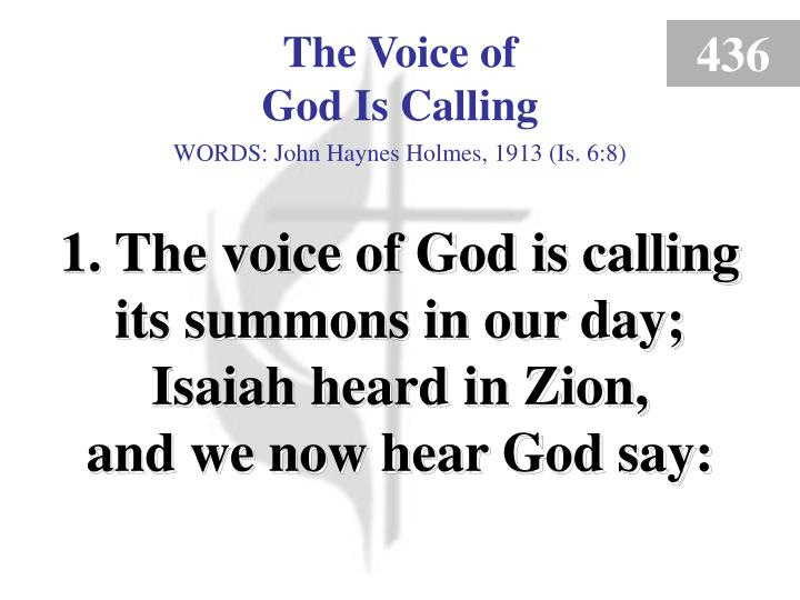 the voice of god is calling 1 n.