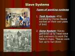 slave systems