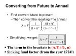 converting from future to annual2