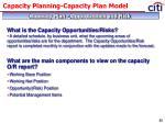 capacity planning capacity plan model13