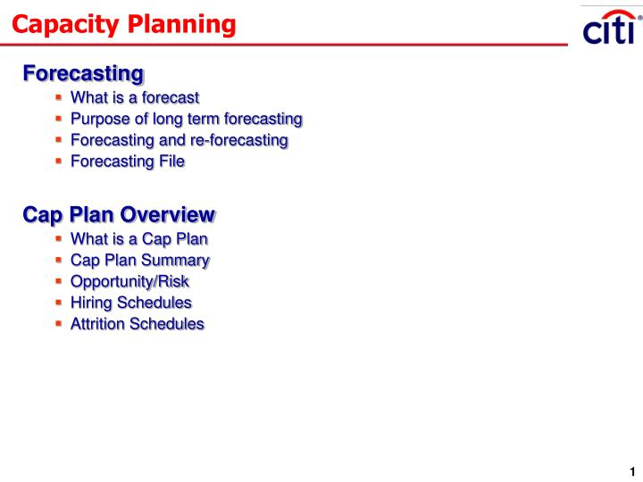 PPT - Capacity Planning PowerPoint Presentation - ID:6841771