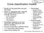 cross classification models