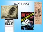 black listing
