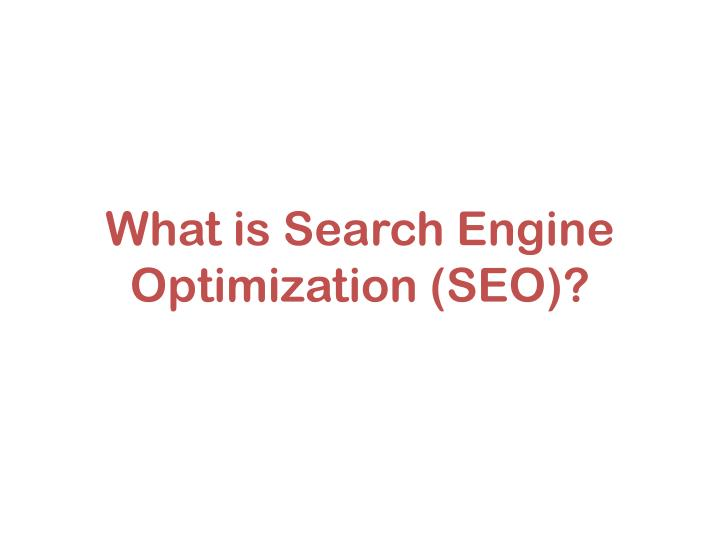 what is search engine optimization seo n.