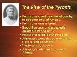 the rise of the tyrants