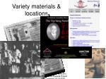 variety materials locations