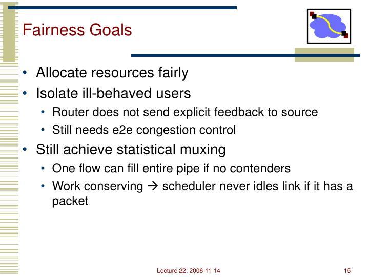 Fairness Goals