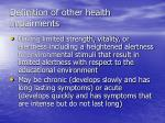 definition of other health impairments