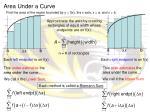 area under a curve