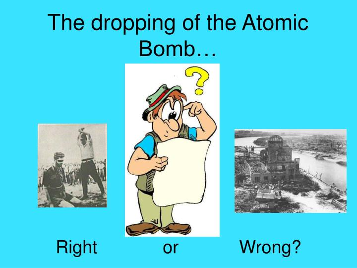 the dropping of the atomic bomb n.