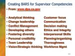 creating bars for supervisor competencies