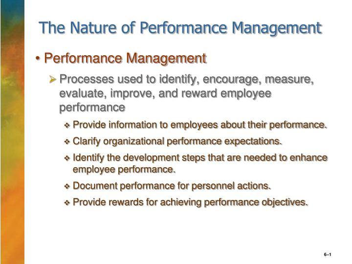 the nature of performance management n.