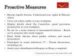 proactive measures