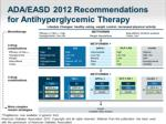 ada easd 2012 recommendations for antihyperglycemic therapy