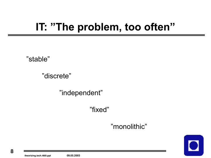 """IT: """"The problem, too often"""""""