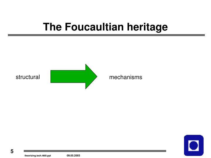 The Foucaultian heritage