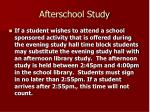 afterschool study