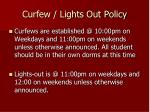 curfew lights out policy