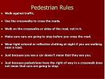 pedestrian rules