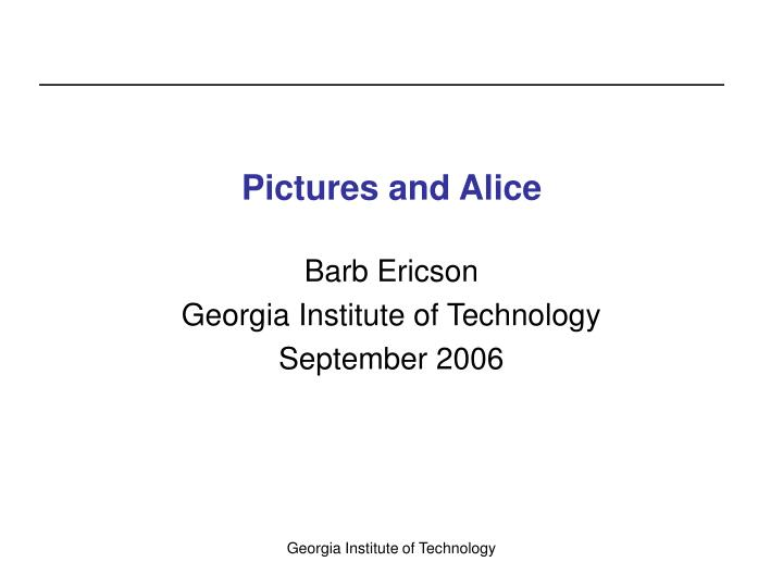 pictures and alice n.