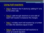 using half reactions2