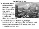 growth of cities1