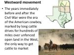 westward movement1