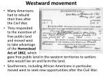 westward movement2