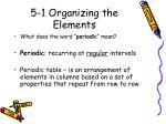 5 1 organizing the elements