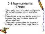 5 3 representative groups