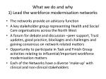 what we do and why 1 lead the workforce modernisation networks
