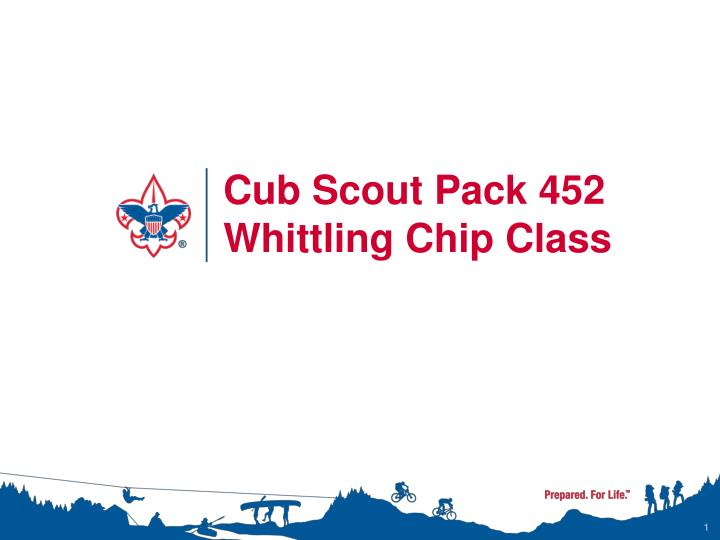 cub scout pack 452 whittling chip class n.