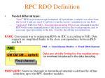 rpc rdo definition