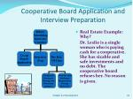 cooperative board application and interview preparation