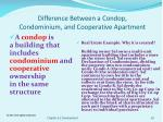 difference between a condop condominium and cooperative apartment