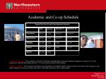 academic and co op schedule