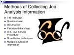 methods of collecting job analysis information
