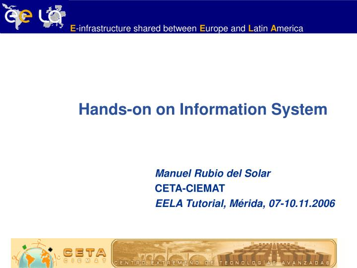 hands on on information system n.