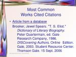most common works cited citations4