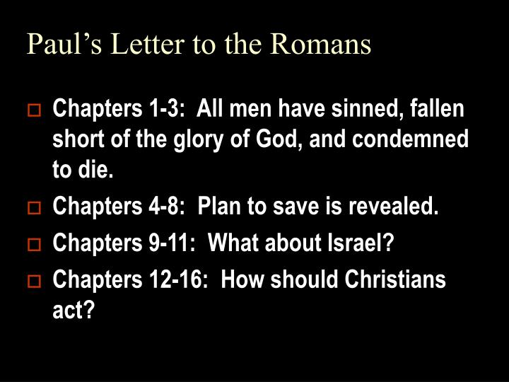 paul s letter to the romans n.