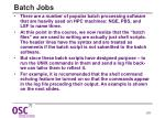 batch jobs
